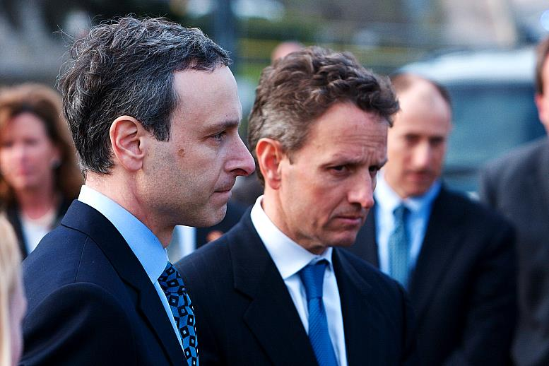 Controlled Geithner Press Conference Shuts Out Infowars, Censors Real Questions  20100222 067