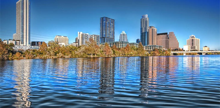 HDR photography of Austin skyline