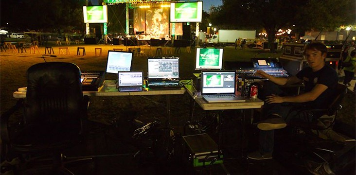 Live sound mixing and digital recording for The Pictures Band