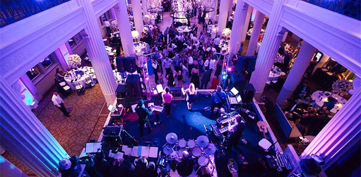 Live sound system rental for The Pictures Band at a wedding reception