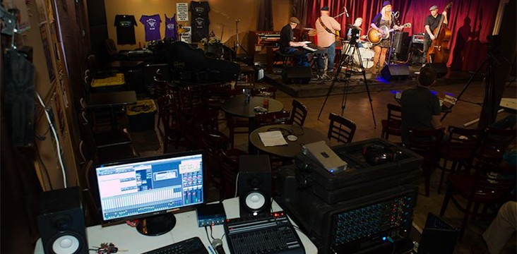 Audio production for Songwriters Across Texas show