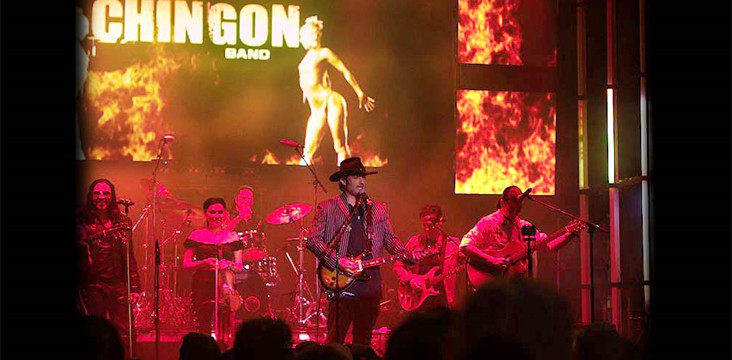 Live multi-track recording for Robert Rodriguez and Chingon